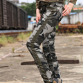 Winter Slim Fashion Camouflage Casual Pants Women Outdoors Military Style Pockets Decoration Free Army Brand Cargo Pants GK-991B