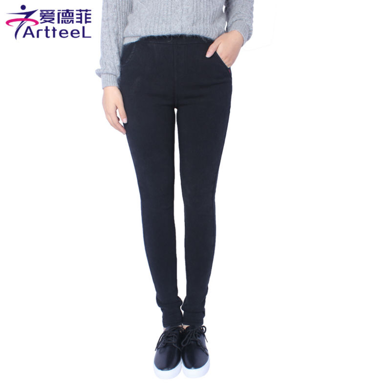 New Fashion Ladies Casual Stretch Denim Jeans font b Leggings b font Jeggings Pencil Pants Thin