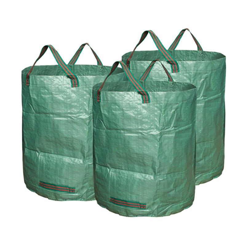 BESTOYARD 3pcs Garden Waste Bags Reuseable Heavy Duty Gardening Bags Lawn Pool Garden Leaf Waste Bag