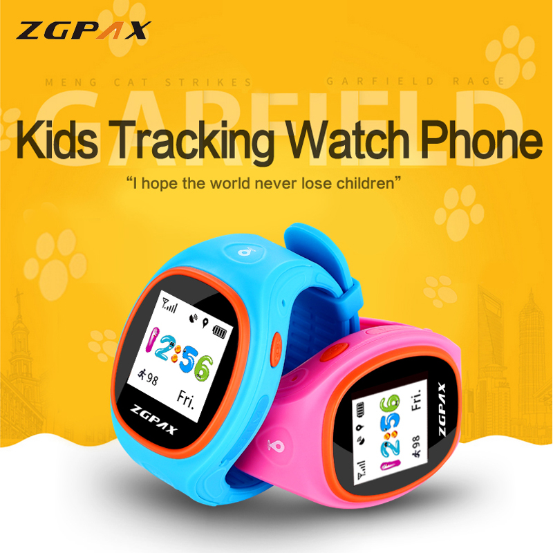 ФОТО ZGPAX X113 Children GPS Tracking Bluetooth Smart Watch Phone MTK2503 WiFi GSM Smart Watch for iOS & Android Phone