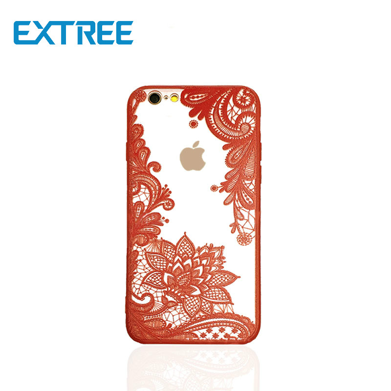 EXTREE case for iPhoneTPU+PC in one phone case for Apple X lace painted hollow iPhone7plus