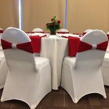 Дизайн лайкра спандекс стул лента стул пояс бант подходит для банкета чехол для свадебного стула