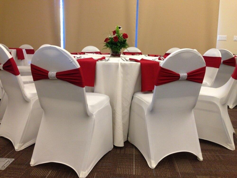 تصميم جديد كرسي دنة ليكرا الفرقة كرسي الوشاح القوس صالح على مأدبة كرسي زفاف غطاء-في الأوشحة من المنزل والحديقة على  مجموعة 1