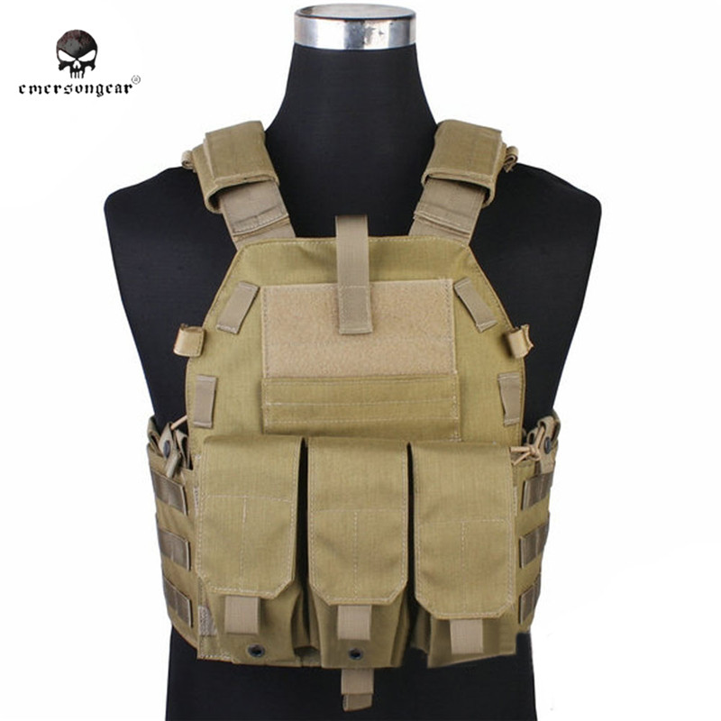Emersongear 094K Tactical Molle Hunting Vest Airsoft Paintball Camo Vests M4 Gun Ammo Magazine Pouch Combat Clothes Gear EM7356 military tactical camouflage drop leg thigh magazine pouch 5 56mm and pistol magzine airsoftsports paintball hunting accessory