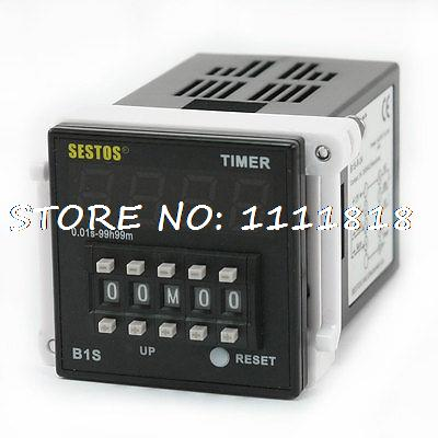 цена на B1S-R-24 0.01S-99H99M LED Dipslay Digital Timer Delay Relay DC/AC 12-24V