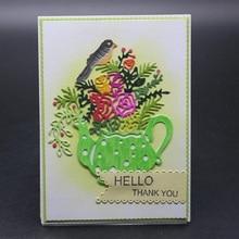 Glita Creatif cutting dies flowers and bird for scrapbooking DIY albulm photo decorative paper card making craft new tool