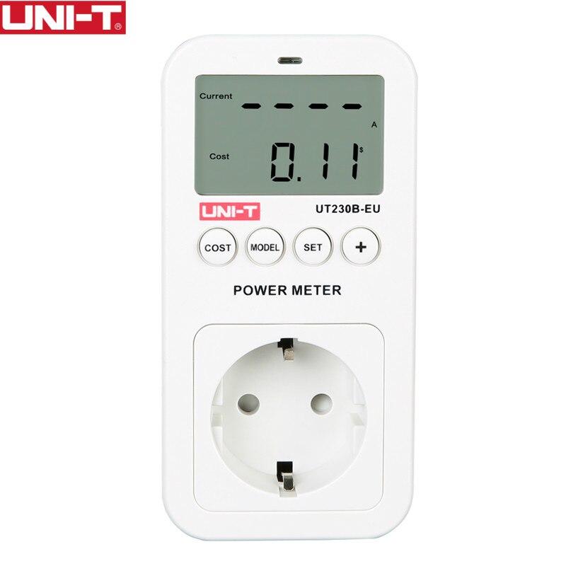 UNI-T UT230B-EU wattmeter Spannung Strom Kosten Frequenz Power Meter LCD Energie Verbrauch Monitor
