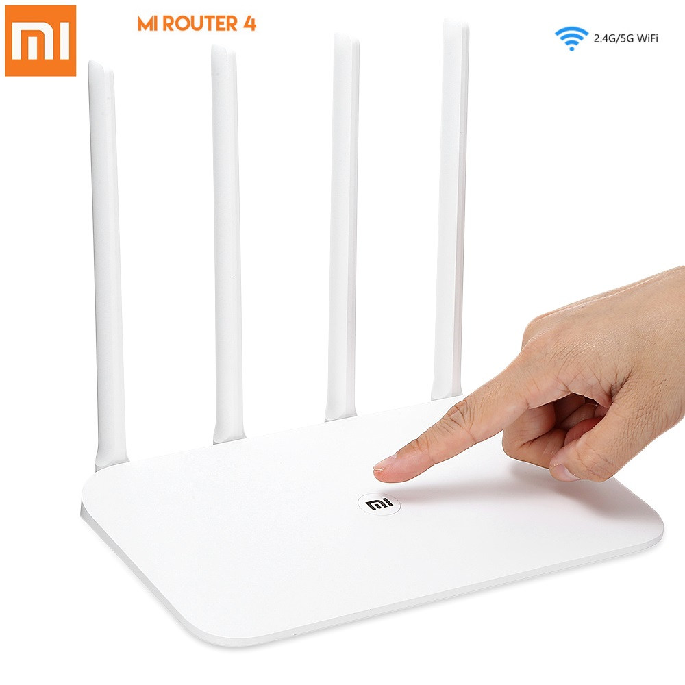 Original Xiaomi Mi Router 4 Wireless 1167Mbps Dual Band 5GHz/2.4GHz Wi-Fi 802.11ac 4-Antenna Dual Core MiNet One Key Connection