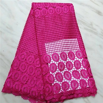 red colour milk silk 5yards water soluble lace fabric good quality guipure lace fabric for clothes (16L-4-19