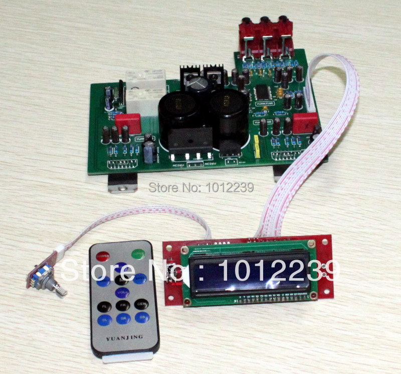free shipping Assembled TDA7293 LCD remote control amplifier board/high quality amplifier board цены
