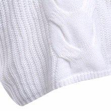 Nouveau 2018 Femmes Chandail Sexy Blanc V cou Chaud Tricoté chandail Plus La Taille Femmes À Manches Longues Pull Jumper Tricots D'hiver Femme