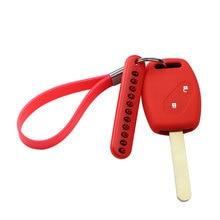 Автомобильный чехол для ключей, брелок для ключей, телефонный номер для Honda Civic Accord Ridgeline, Pilot подходит для CRV FRV Insight CR-Z Crosstour HRV