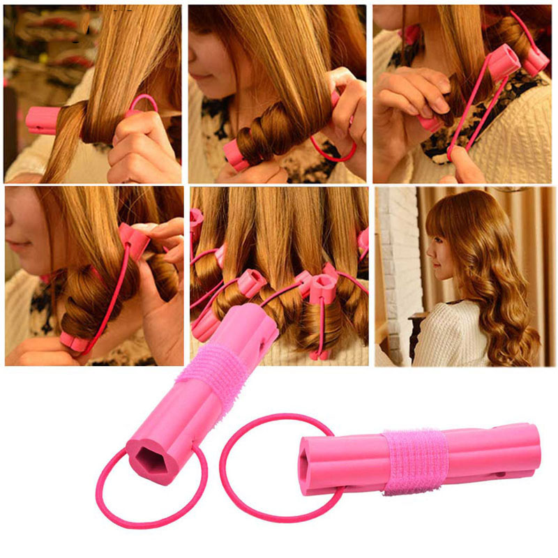 New Fashion 6pcs Magic Foam Sponge Hair Curler DIY Wavy Hair Travel Home Use Soft Hair Curler Rollers Styling Tools coil hair tie 6pcs