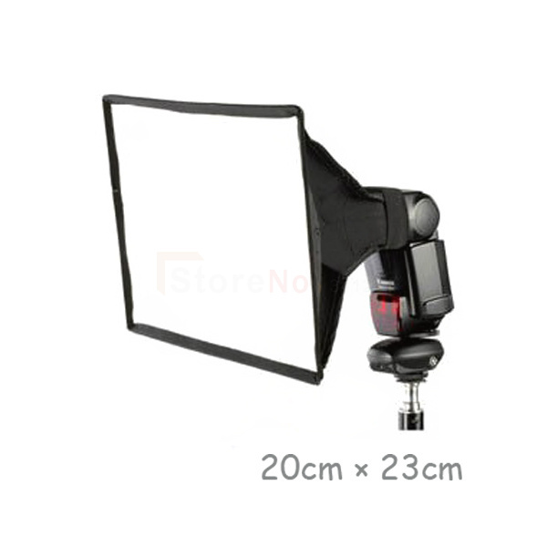Free shipping 20x30cm Foldable Flash Diffuser Softbox Soft Box For Digital SLR Camera Yongnuo flash light