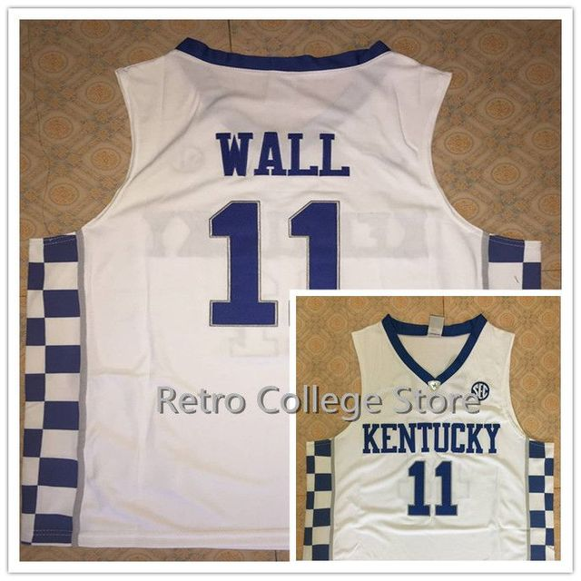 92ccb6eecc0 High Quality 11 John Wall 12 Karl Anthony TOWNS KENTUCKY WILDCATS  Basketball Jerseys Throwback Stitched Customized Any Name And
