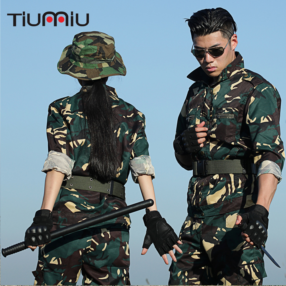 Tactical Camouflage Hunting Suit Outdoor Men Combat Ghillie Suit Army Training Sets Hiking Sport Sets Ww2 Softair Askeri Malzeme