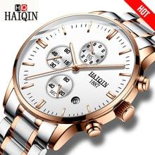 HAIQIN Для мужчин часы модные Для мужчин s часы лучший бренд luxury/Спорт/Военные/золото/кварц/наручные часы Для мужчин часы relogio masculino