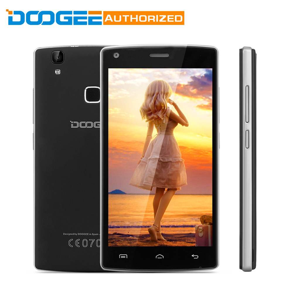 In Stock DOOGEE X5 Max 1GB+8GB MTK6580 5.0 Inch Android 6.0 Smartphone 4000mAh Quad Core Fingerprint 8.0MP Camera