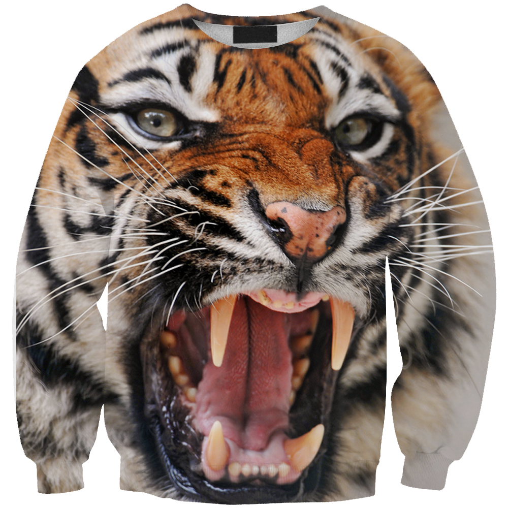 new autumn Spring style 3D hoodies print tiger leopard men women hooded sweatshirts pullovers hip hop clothing