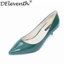 2016 Consise New Fashion Slip-on Women Shoes Pointed Toe Sexy High Heels Office Lady Shallow Special Candy Colour Zapatos Mujer