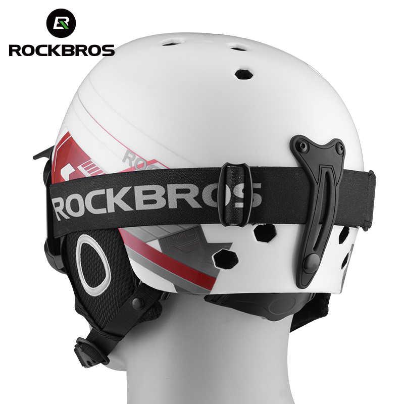 ROCKBROS Ski Helm Integral Dibentuk Ski Helm Keselamatan Melindungi Anak-anak Dewasa Termal Ultralight Snowboard Skateboard Helm