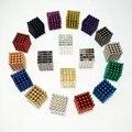 5mm 125 pcs metaballs bolas magnéticas ímã neo cubo magico cubo mágico brinquedos presente de ano novo presente de natal do metal caixa + cartão + saco