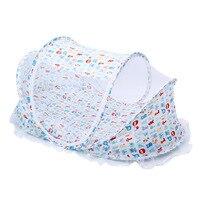 Cuna Bebé Cama Plegable Cuna Con Malla Con Almohada Set de Esterillas PortableNewborn Sueño Ropa de Cama de Bebé Cama de Viaje