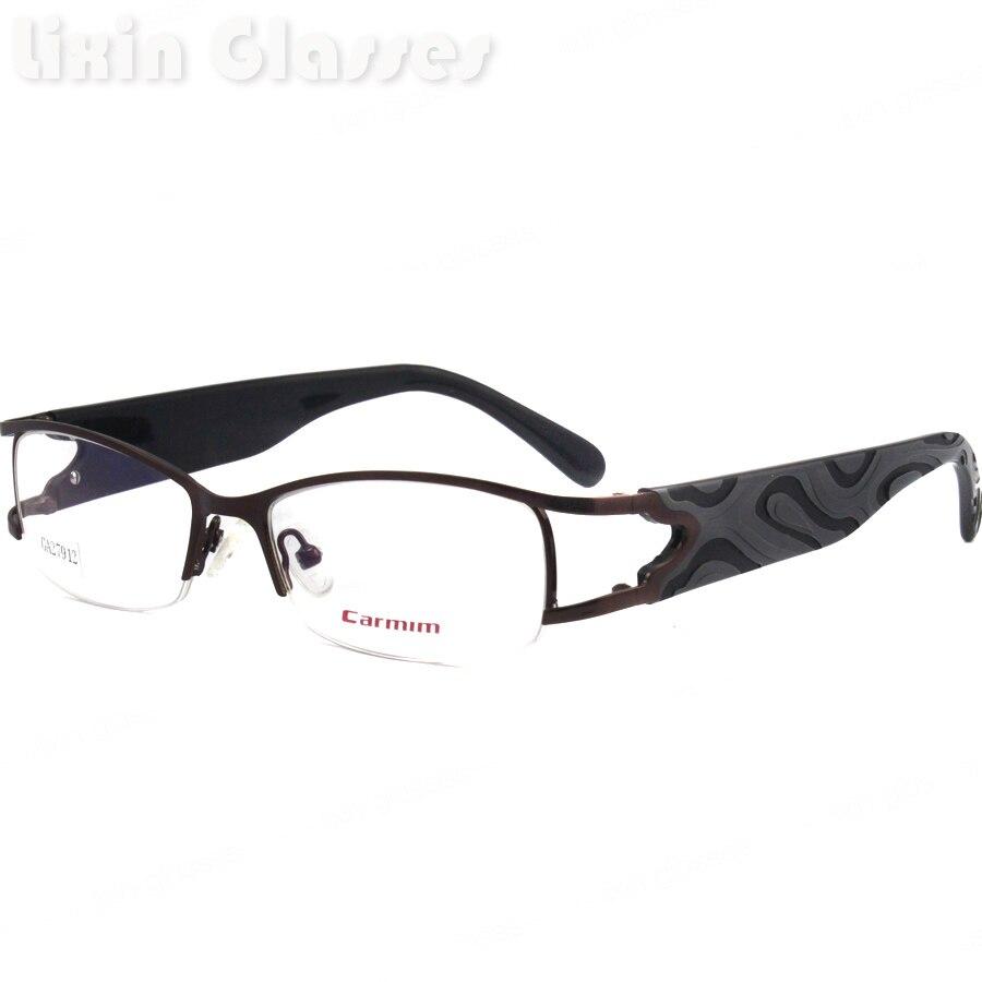 Diseño de Moda estilo marrón oscuro Marcos masculino anteojos de ...