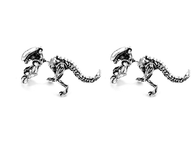 ZRM 2pcs pairs Fashion Jewelry 3D Scary Monster Alien Stud Earring Black Color Dinosaur Earring For.jpg 640x640 - ZRM 2pcs/pairs Fashion Jewelry 3D Scary Monster Alien Stud Earring Black Color Dinosaur Earring For Women Men Halloween Gift