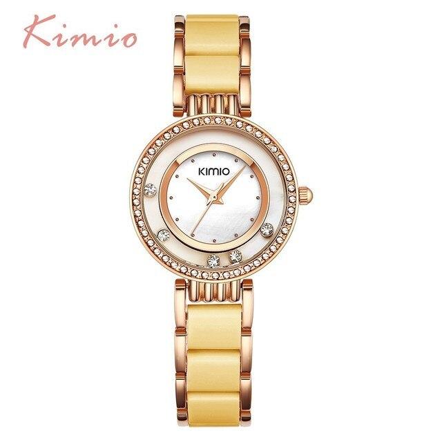 KIMIO Rolling Diamond Watch Women Dress Rose Gold Fashion Women's Watch Luxury B