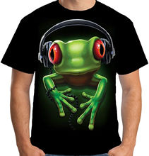 Velocitee Mens Frog Rock T Shirt Music DJ Funky Street Rave Soul Festival A18618 Harajuku Tops Fashion Classic Unique t-Shirt