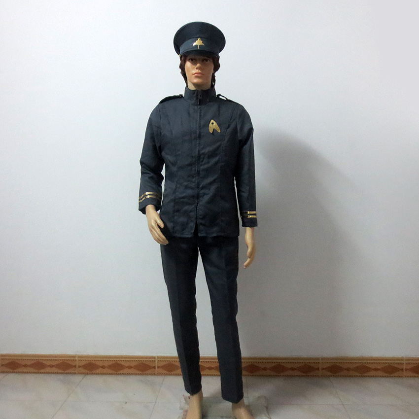 Star Trek Spock Cosplay Costume Include Hat Uniform Suit Outfit Halloween Customize Any Size