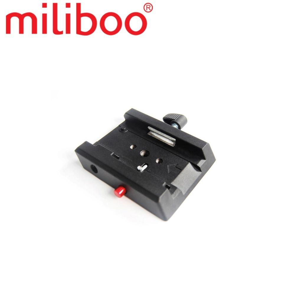 """miliboo 퀵 릴리스 플레이트 MYT804 1/4 """"및 3/8""""나사가 장착 된 유체 헤드 볼 액세서리가 맨프로토를 대체합니다."""