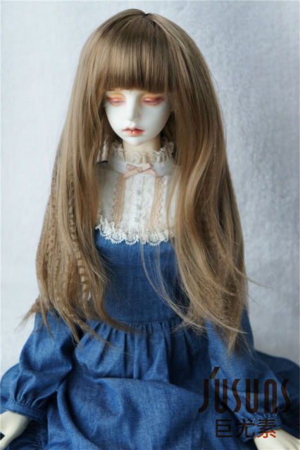 JD179  1/3 SD Long wig with Corn curly  8-9inch BJD doll accessories