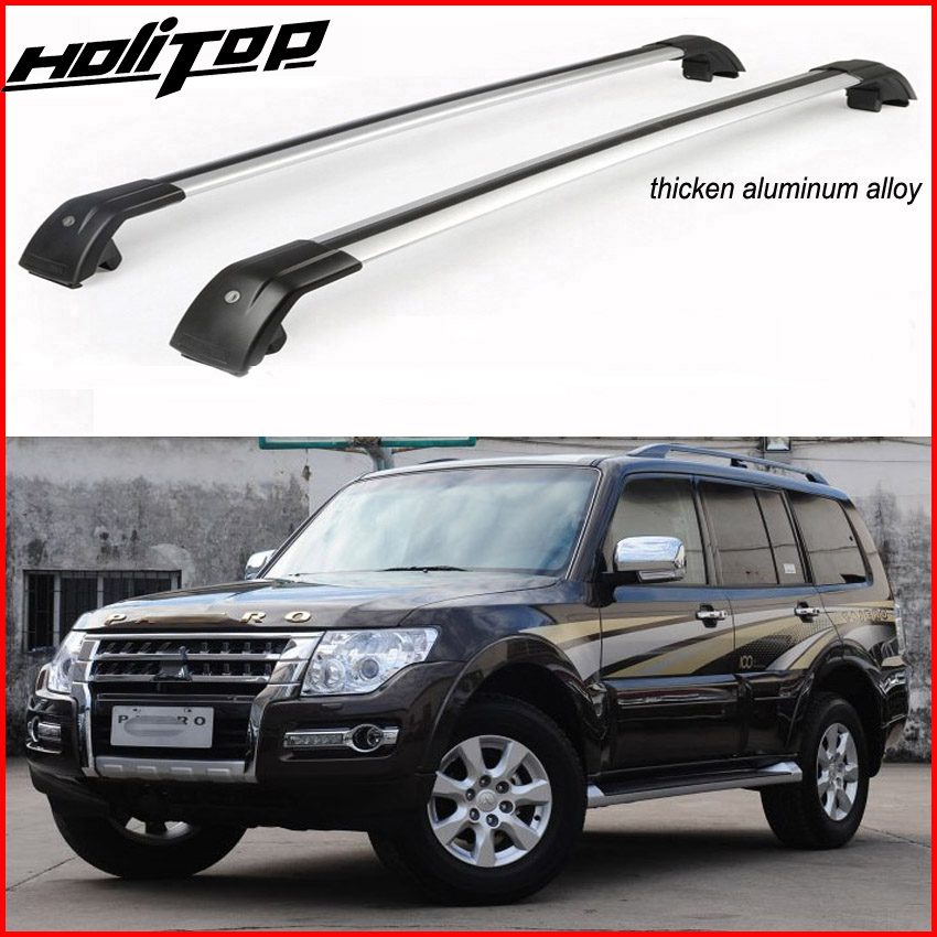 Hot for Mitsubishi Pajero 2011-2018 roof rail roof rack roof bar cross beam,anti-theft system,ISO factory,best aluminum alloy 2pcs roof rack cross bar crossbar black abs aluminum for jeep compass 2011 2015