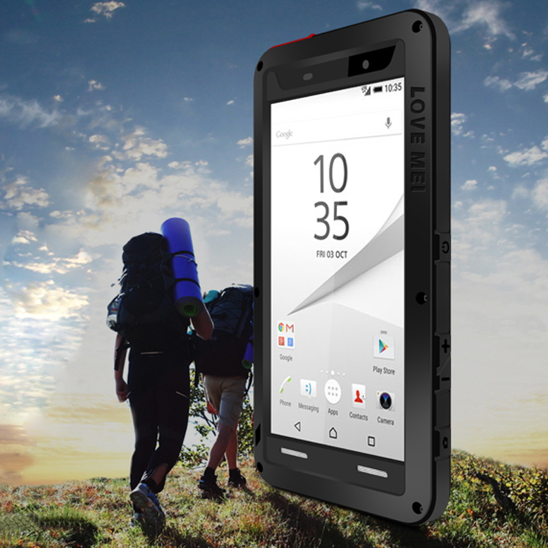 For SONY Z5 Compact Case LOVEMEI Powerful Metal Case for Sony Xperia Z5 Compact Luxury Aluminum Dirt Waterproof Shockproof Cover