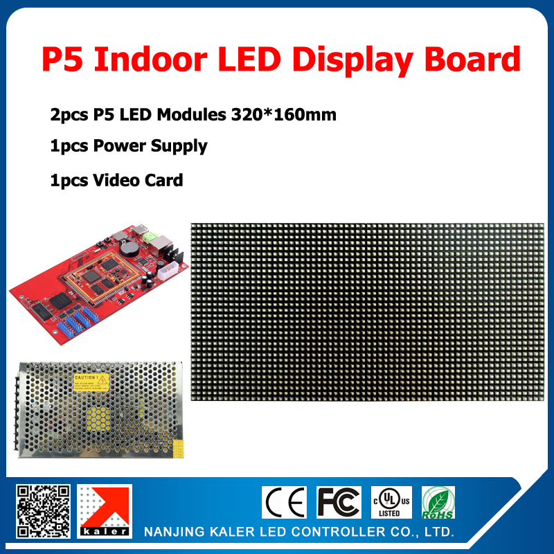 320*160mm 64*32pixels 1/16 Scan indoor SMD 3in1 RGB full color P5 indoor LED display screen 2pcs p5 led modules 1 controller320*160mm 64*32pixels 1/16 Scan indoor SMD 3in1 RGB full color P5 indoor LED display screen 2pcs p5 led modules 1 controller