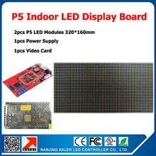 320*160mm 64*32pixels 1/16 Scan indoor SMD 3in1 RGB full color P5 indoor LED display screen 2pcs p5 led modules 1 controller