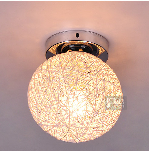 Small Size 6 Ratten Ball Ceiling Light Free Shipping Country Round Ball Balcony passageway Hallway Ceiling Lamp die ratten