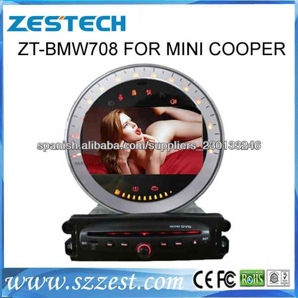 zestech car dvd gps for bmw mini cooper r55 r56 r57 r58. Black Bedroom Furniture Sets. Home Design Ideas