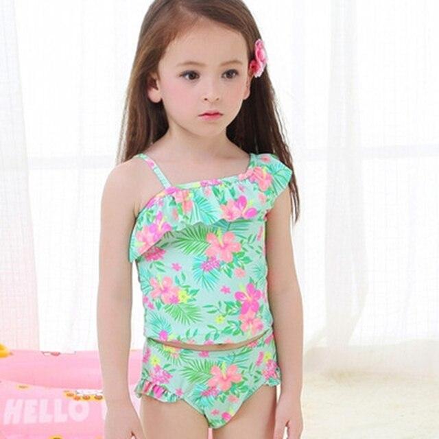 Costumi da bagno ragazza ragazze di fiore costume da bagno bikini ...
