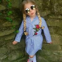2018 New spring&autumn casual style Asymmetrical striped princess dress Girls' autumn princess dress princess dress