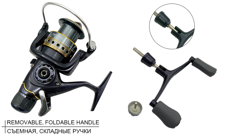 K8356 5.51 9+1BB Dual Brake Saltwater Fishing Reel Metal Spool Sea Boat Spinning Carp Fishing Reels With Extra Spool 3000-5000_05