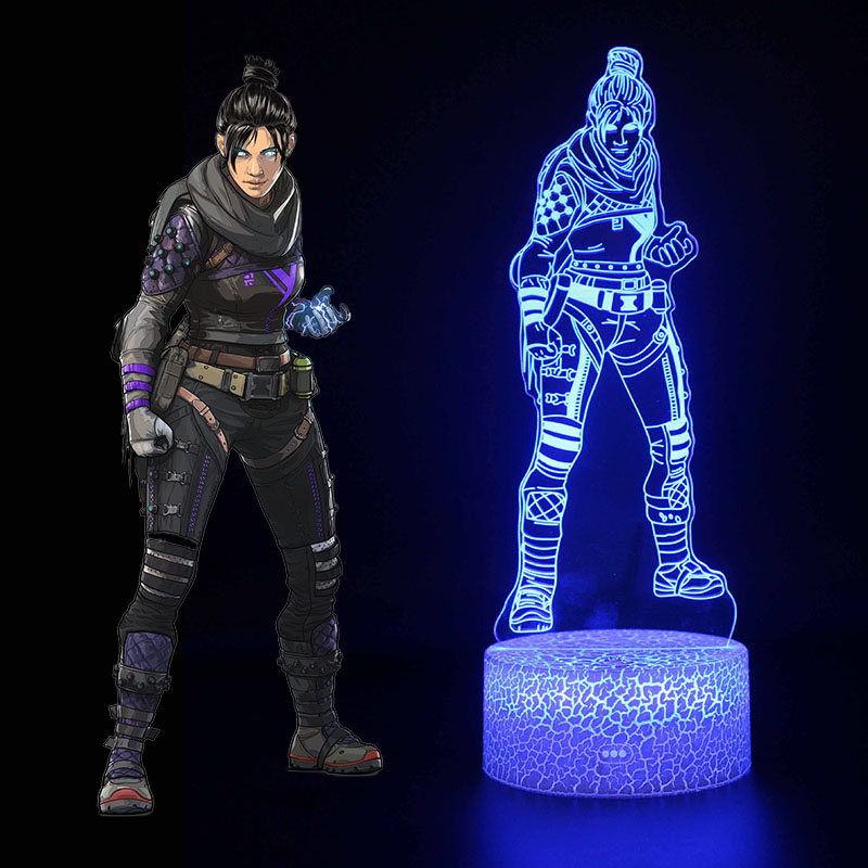 Image 5 - New 3D illusion Led Lamp Apex Legends Pathfinder Action Figure Night Light Protector For Kids Present APEX toys For Gamers-in Action & Toy Figures from Toys & Hobbies
