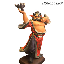 39cm Zhong Kui chinese famous people Sculpture Handmade escultura Customizable Clay Wood resin home decoration accessories
