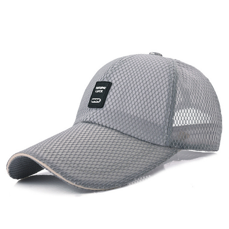 Male Korean hat brim hat big summer baseball tide extended eaves hat 11cm outdoor hats and thin soft and breathable outdoor breathable cotton boonie hat with round brim