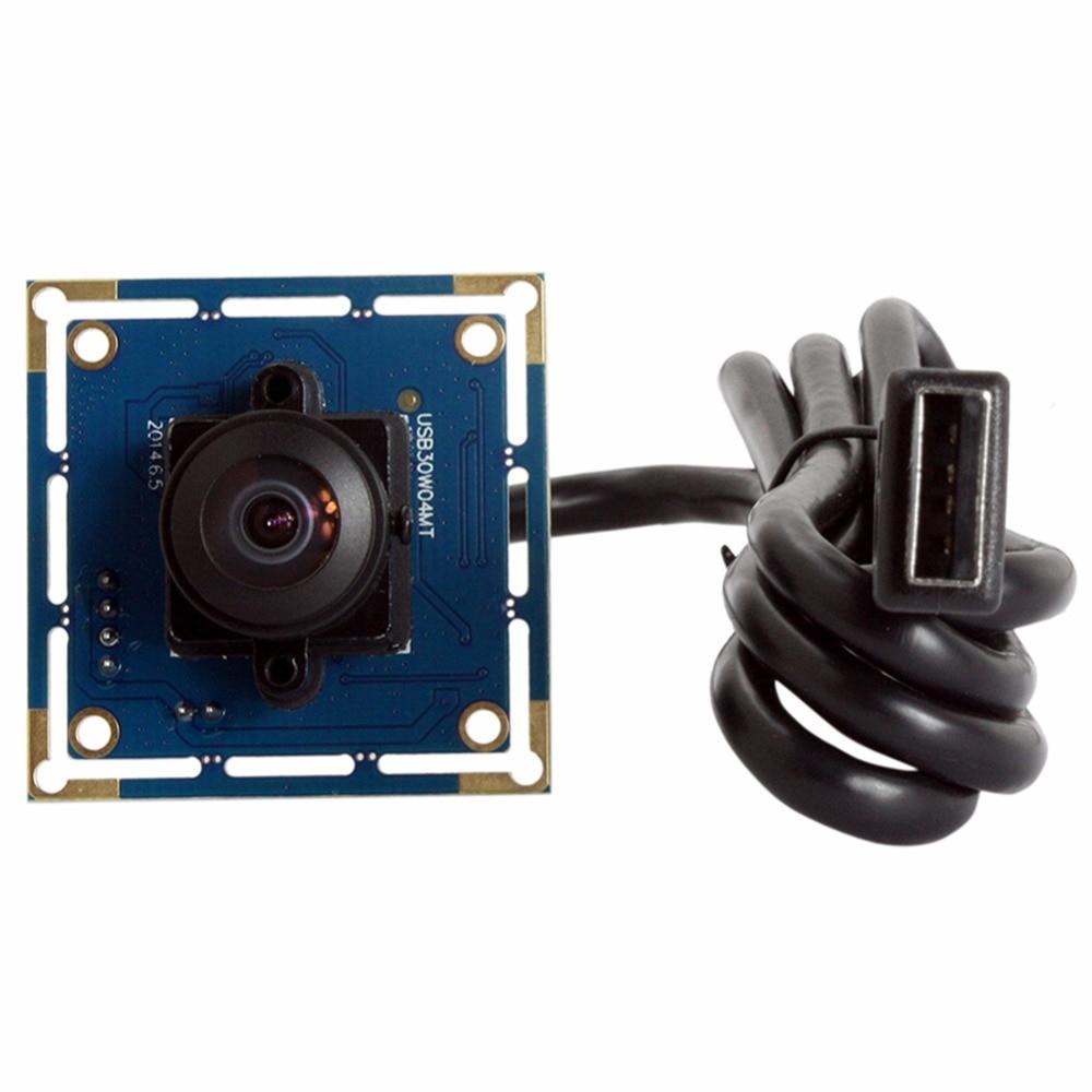ELP VGA 480P CMOS OV7725 usb Camera Module CCTV Webcam Wide Angle Camera PCB Board ELP-USB30W04MT-L170 elp 1080p h264 aptina ar0330 color cmos camera module usb cctv full hd 2 8mm wide angle lens camera module usb with audio mic