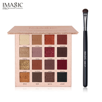 IMAGIC Eyeshadow Palette Kit 16 Colors Shimmer Matte Make Up Eye Shadow With 1pcs Soft Material