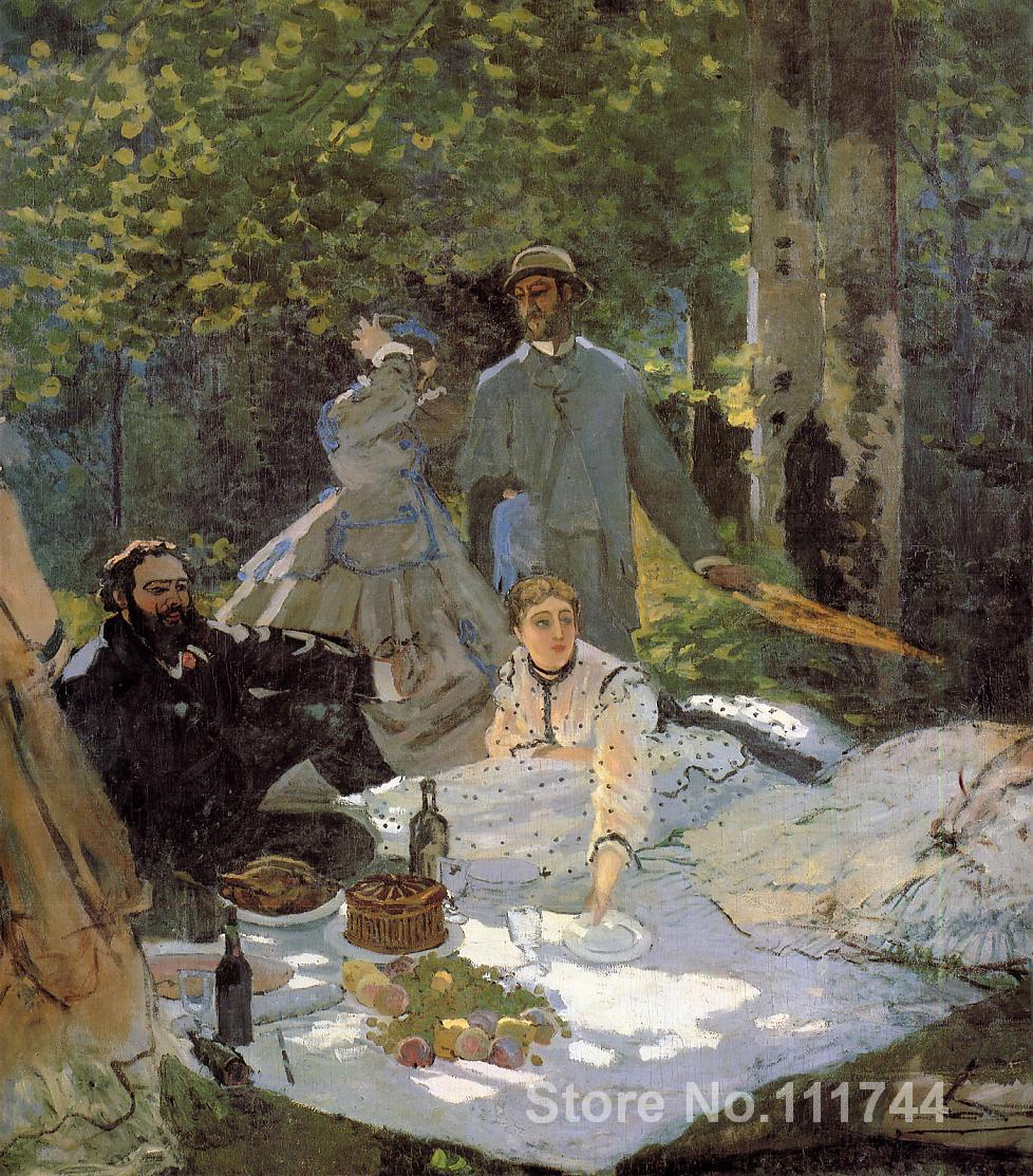 Paintings for a new house Lunch on the Grass (central panel) Claude Monet Handmade oil painting High qualityPaintings for a new house Lunch on the Grass (central panel) Claude Monet Handmade oil painting High quality