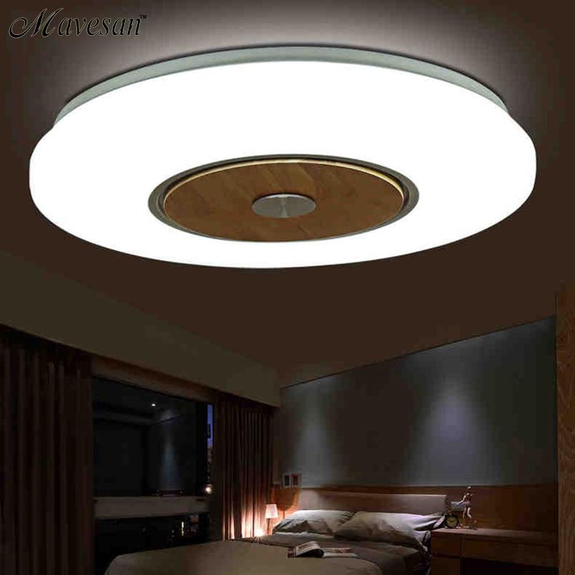 Around Ceiling Wooden Lighting Lamps for sitting Room Light Modern Led Ceiling Lamp cottage Free shipping circular ceiling wooden lighting lamps